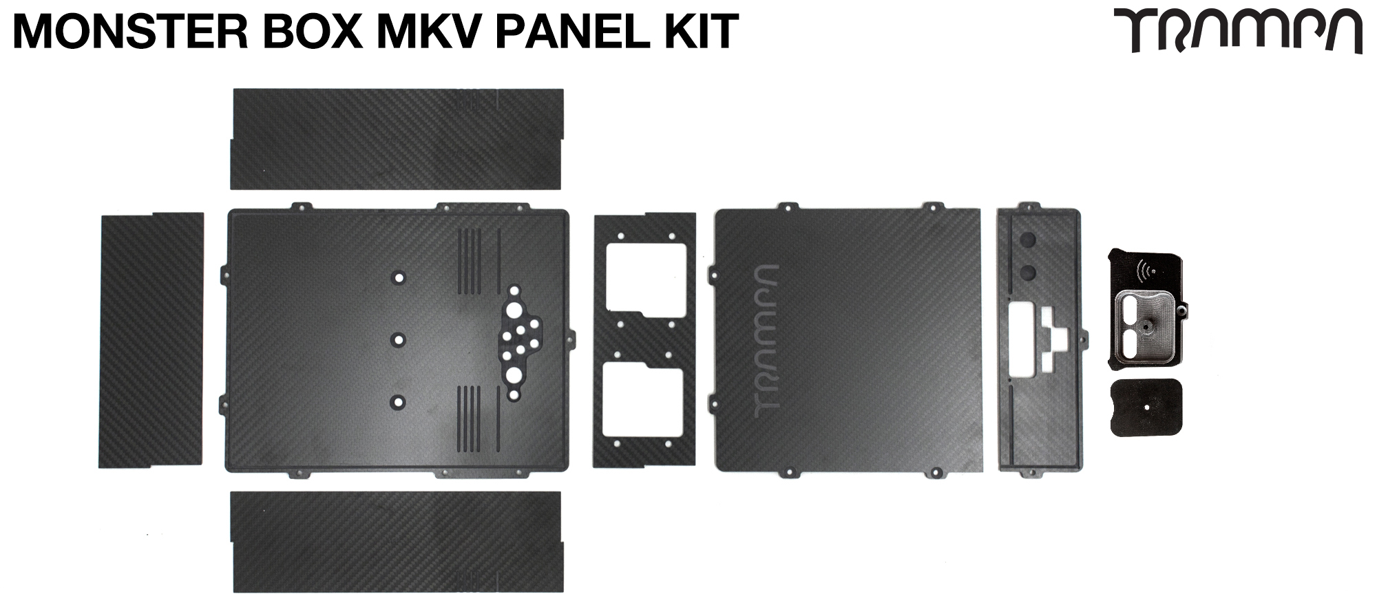 CLASSIC MONSTER Box MkV Complete Panel Kit with internal chamber for TWIN VESC & Inspection pit for Balance cables & XT60 Charge Cable