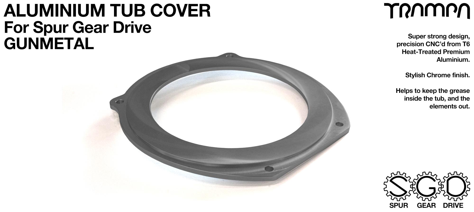 TRAMPA MKII Spur Gear Drive T6 Aluminium Tub Cover - GUNMETAL