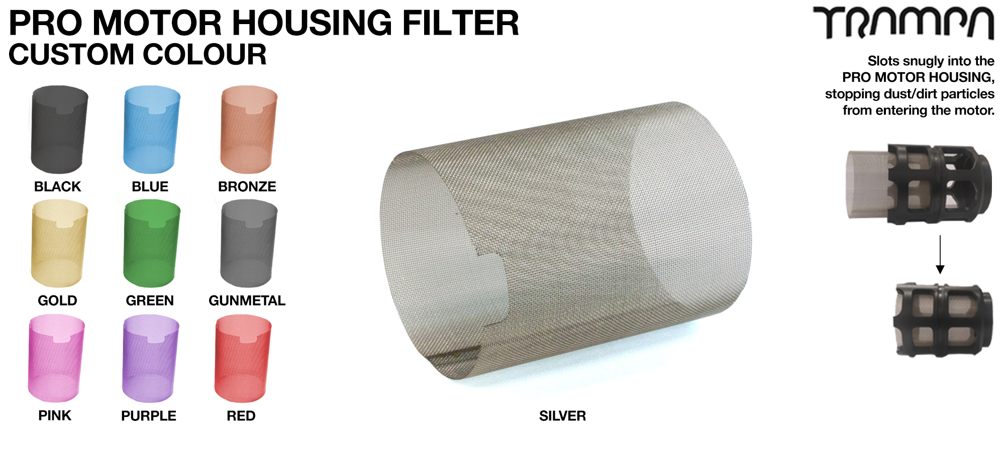 MkII Motor Protection Sleeve Stainless Steel Mesh FILTER