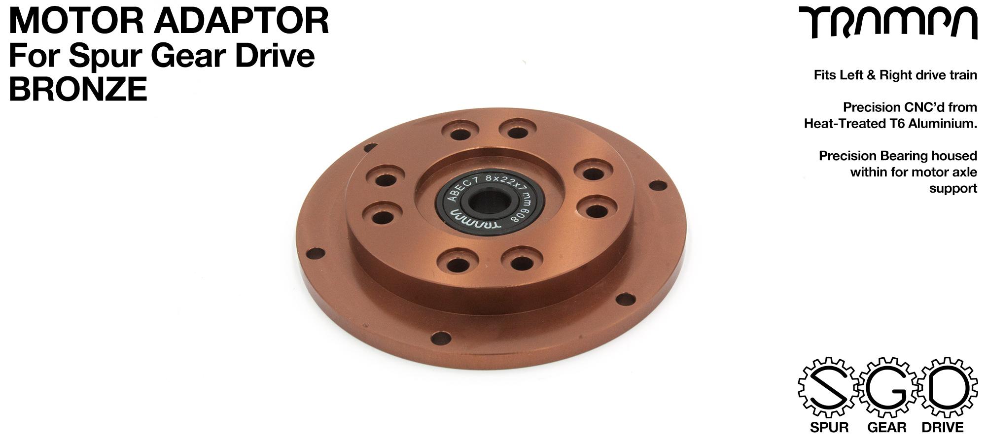SPUR Gear Drive Motor Adaptor BRONZE