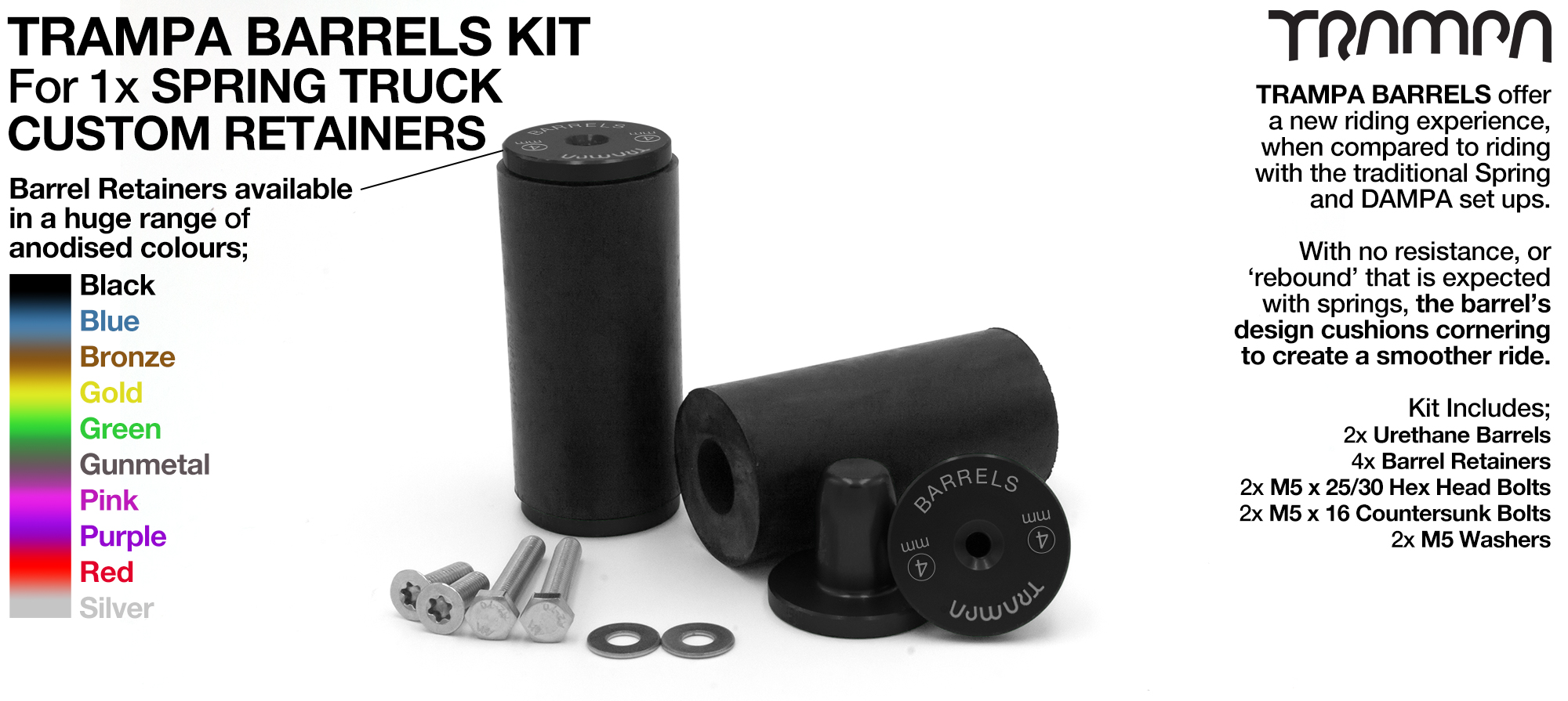 TRAMPA BARRELS Complete TRUCK Kit