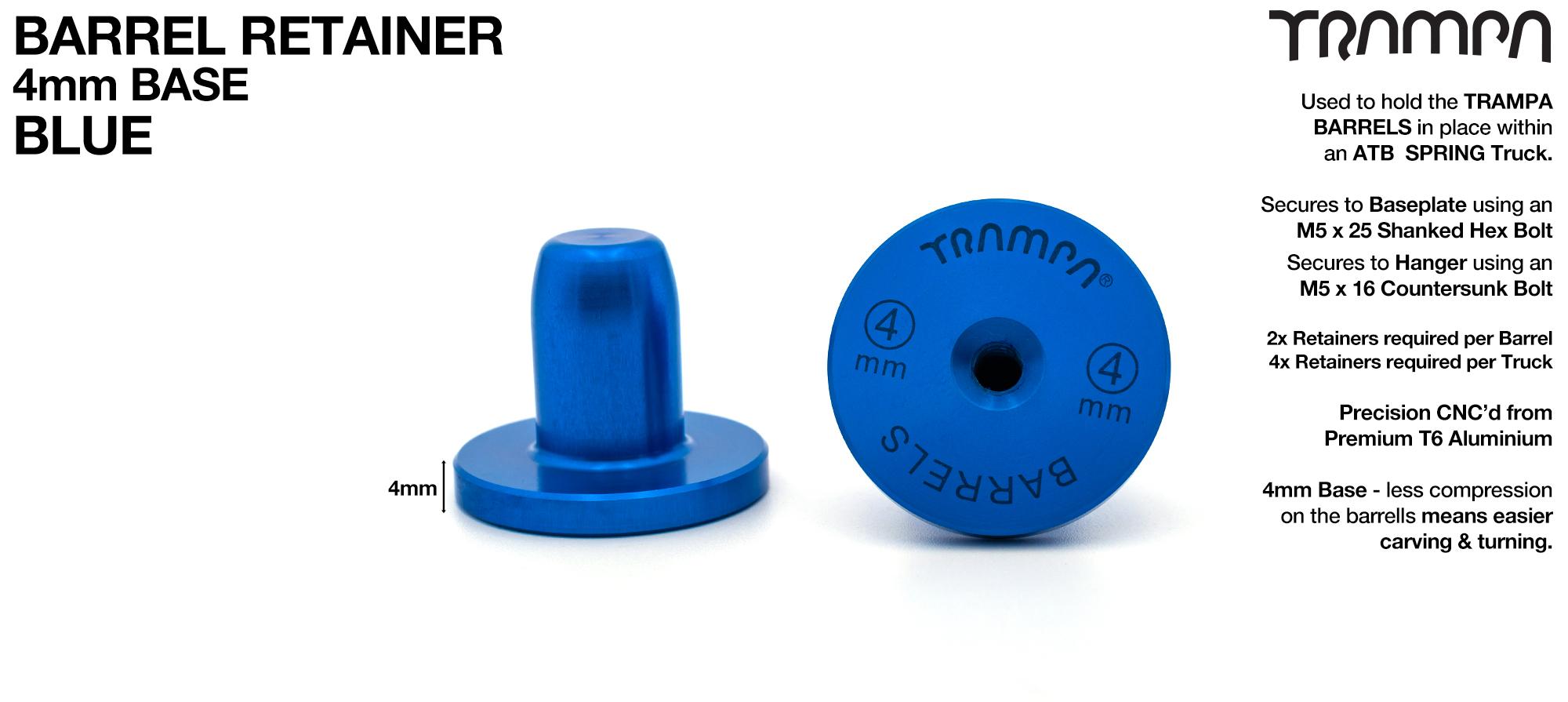BARRELS Retainer 4mm BASE - BLUE