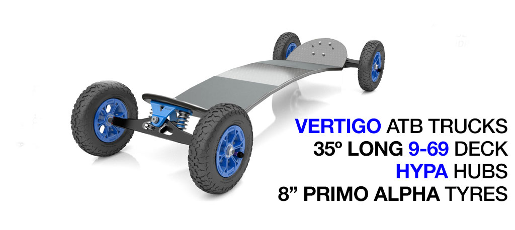 TRAMPA deck on ATB SPRING Trucks with HYPA Wheels -  No Bindings