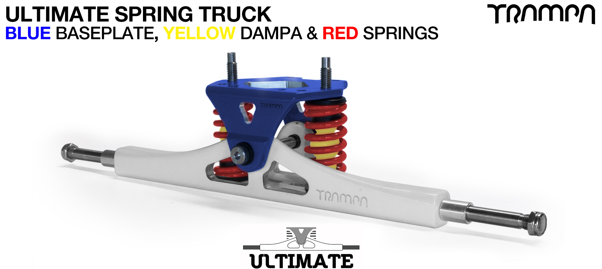 ULTIMATE ATB TRUCK - WHITE ATB Hanger with TITANIUM Axles & Kingpin & NAVY Baseplate