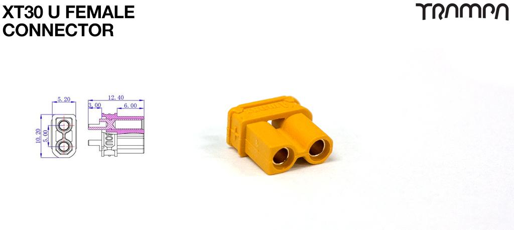 XT30PW Female Yellow