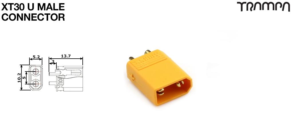 XT30PW Male Yellow