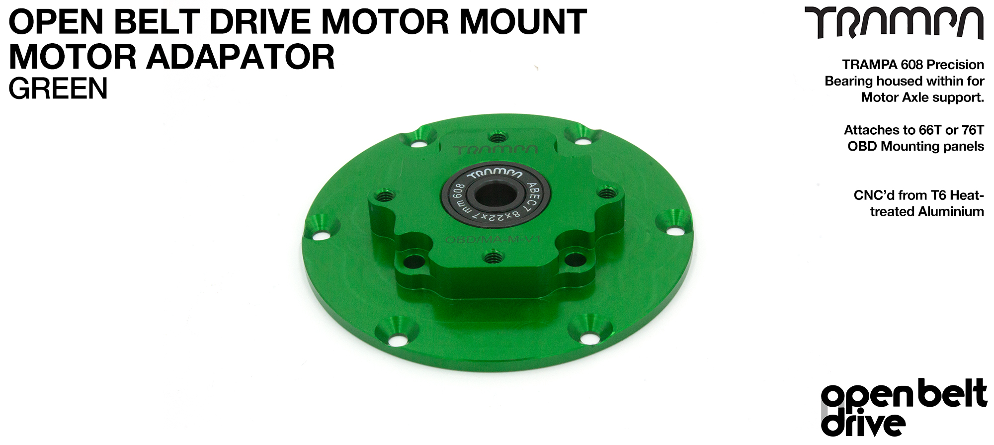 OBD Motor Adaptor with Housed Bearing - GREEN