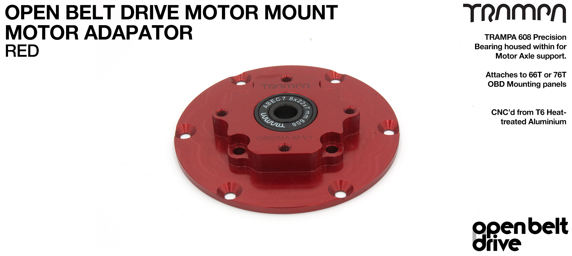 OBD Motor Adaptor with Housed Bearing - RED