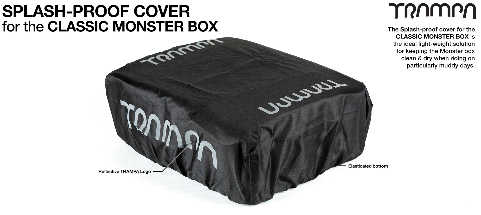 CLASSIC MONSTER Box - Reflective light weight whilst Splash Proof Top Cover