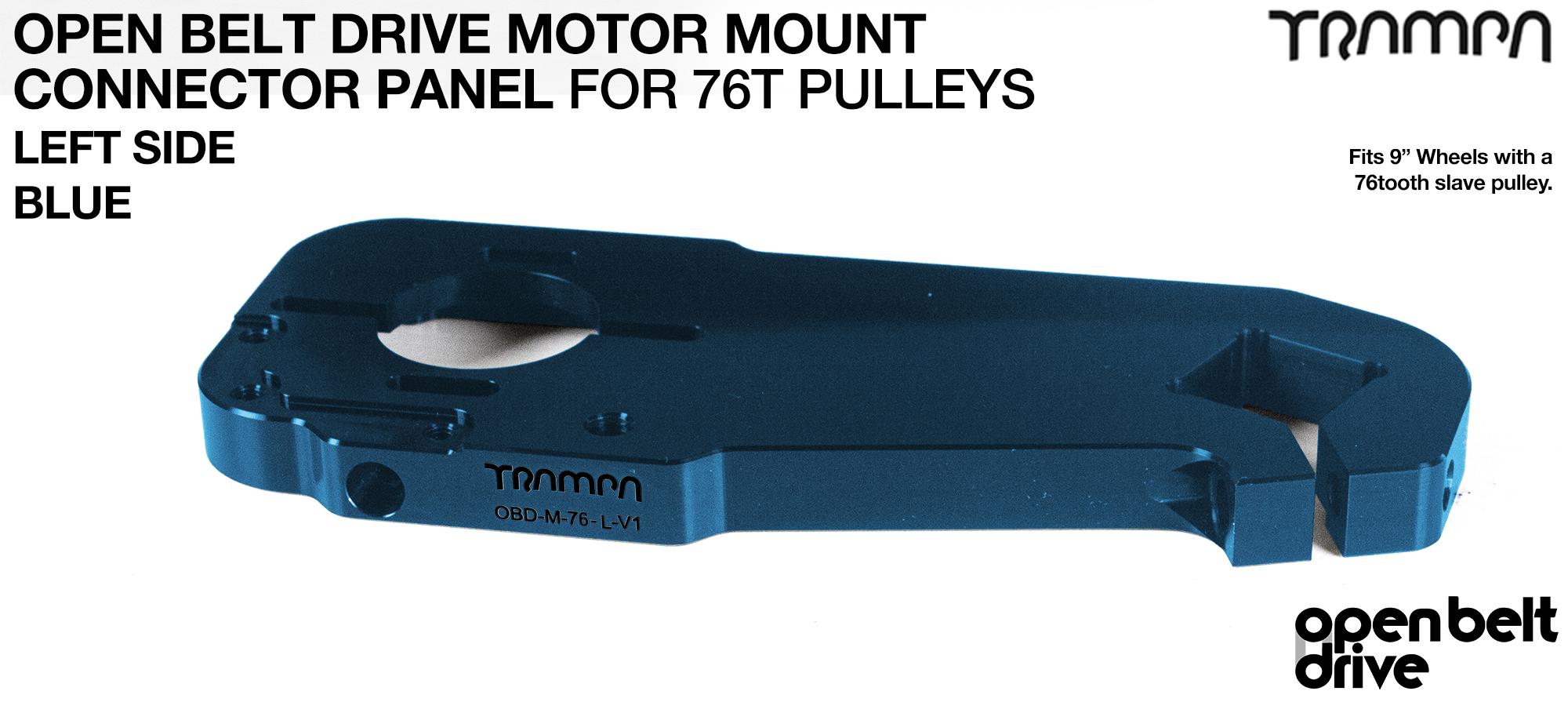 OBD Motor Mount Connector Panel for 76 tooth pulleys - REGULAR - BLUE
