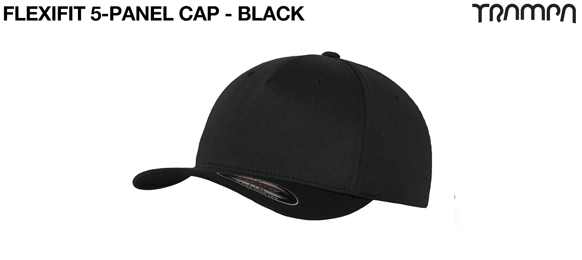 F6560 5 Panel FLEXFIT Cap BLACK