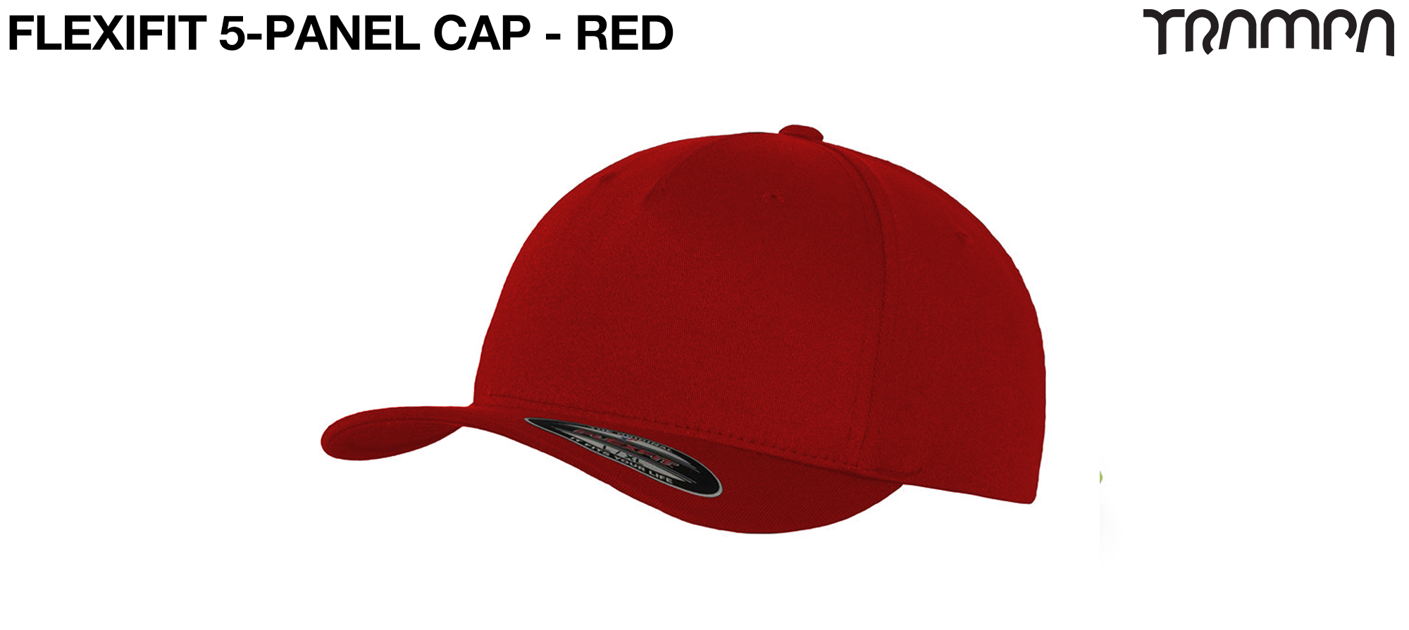 F6560 5 Panel FLEXFIT Cap RED