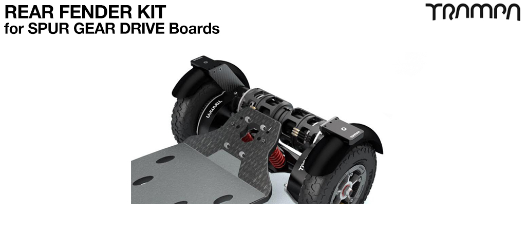 REAR Fender Kit for 8 Inch Wheel boards - SPUR GEAR DRIVE