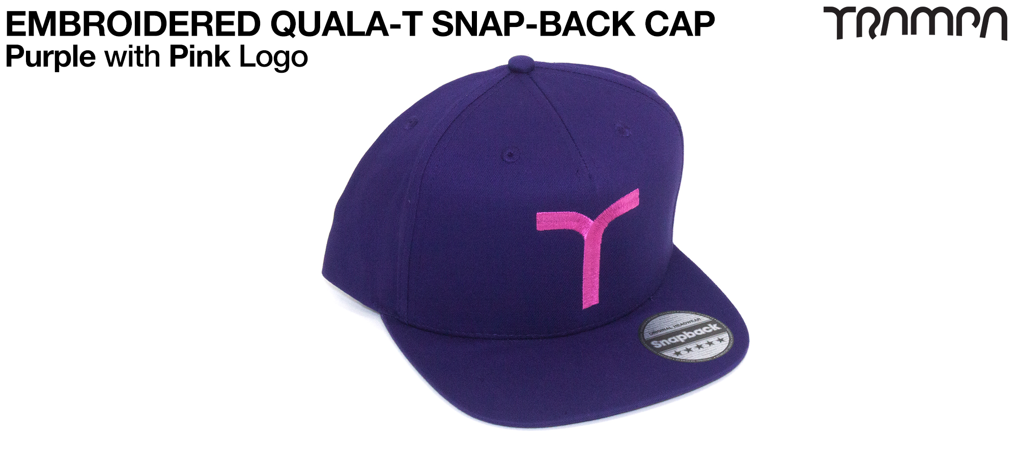 PURPLE SNAPBACK Cap with PINK QUALA-T logo embroidered