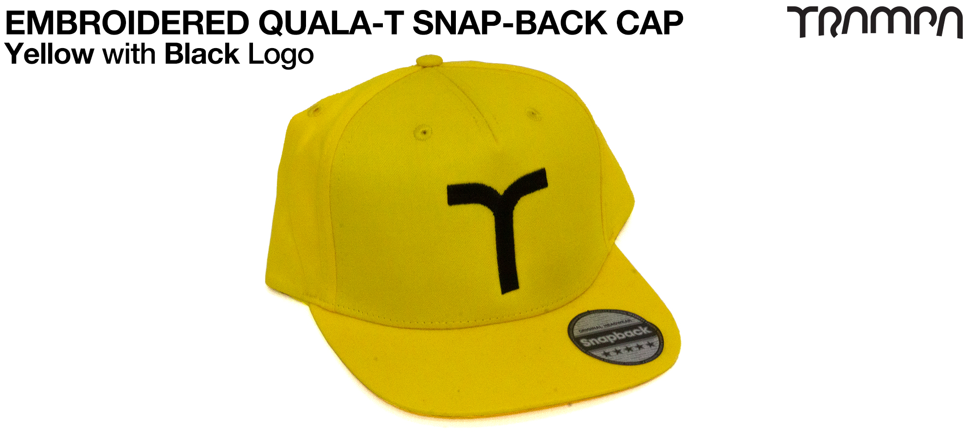 YELLOW SNAPBACK Cap with BLACK QUALA-T logo embroidered
