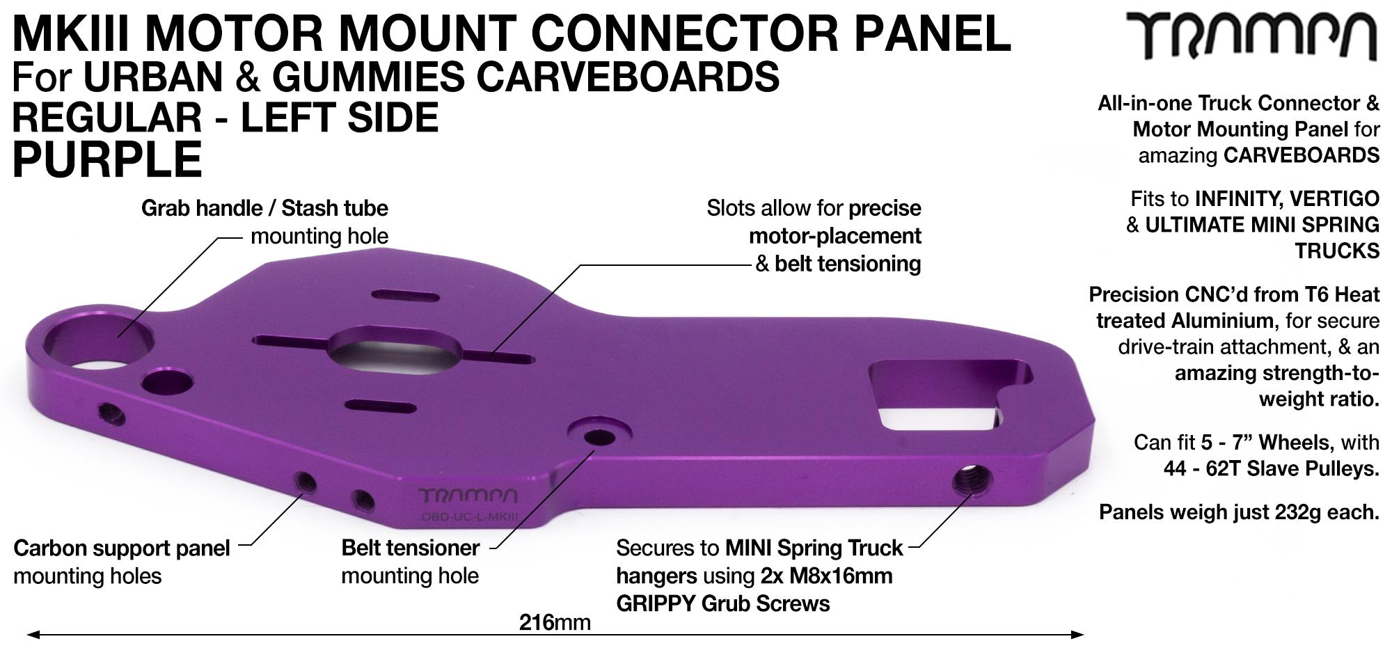 MkIII CARVE Truck Motor Mount T6 Aluminium Anodised - REGULAR PURPLE