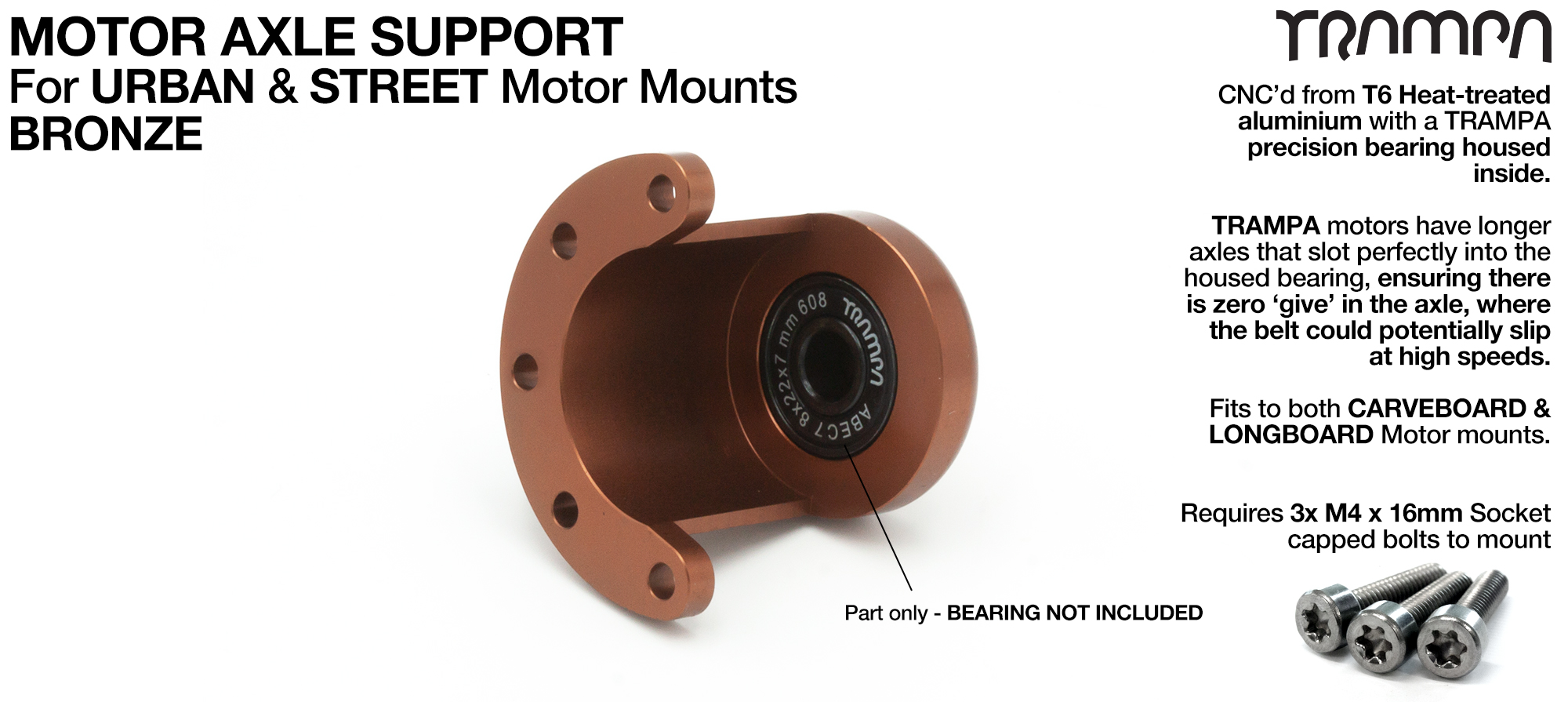 Motor Axle Support for Spring Truck Motor Mounts UNIVERSAL - BRONZE