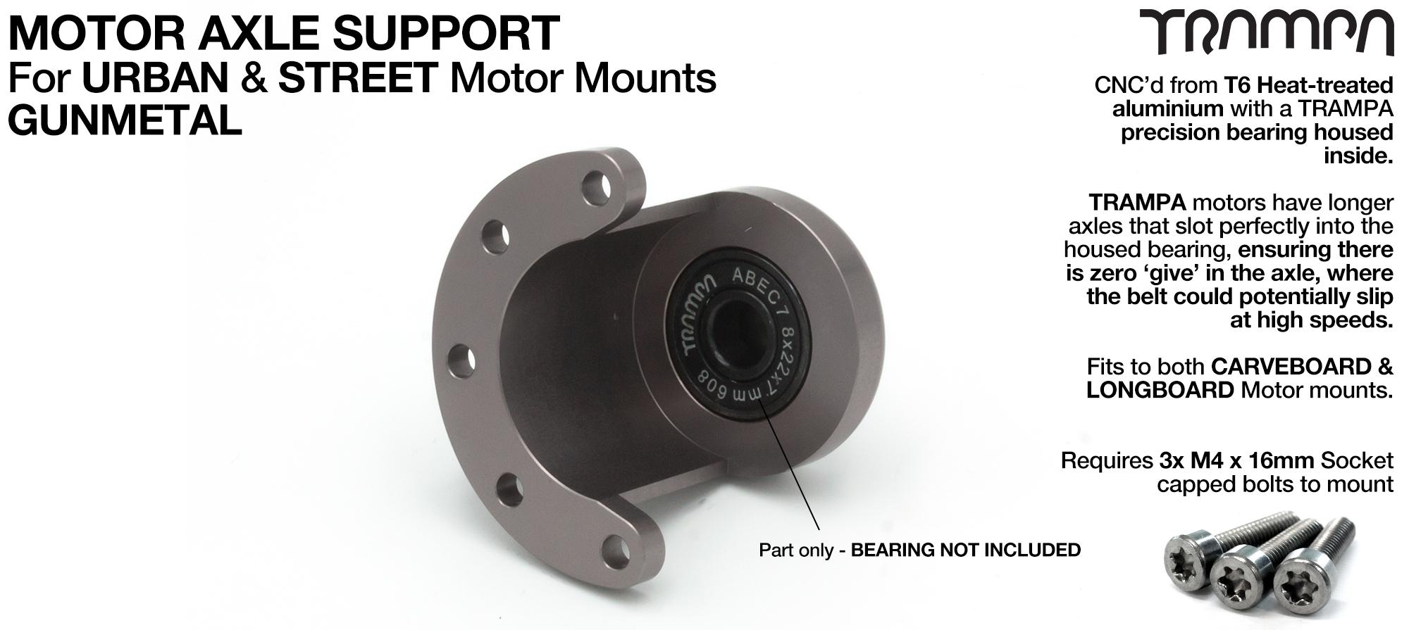 Motor Axle Support for Spring Truck Motor Mounts UNIVERSAL - GUNMETAL