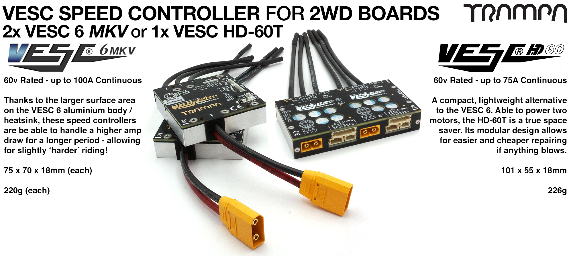 The Amazing VESC 6 or VESC HD-60T TWIN