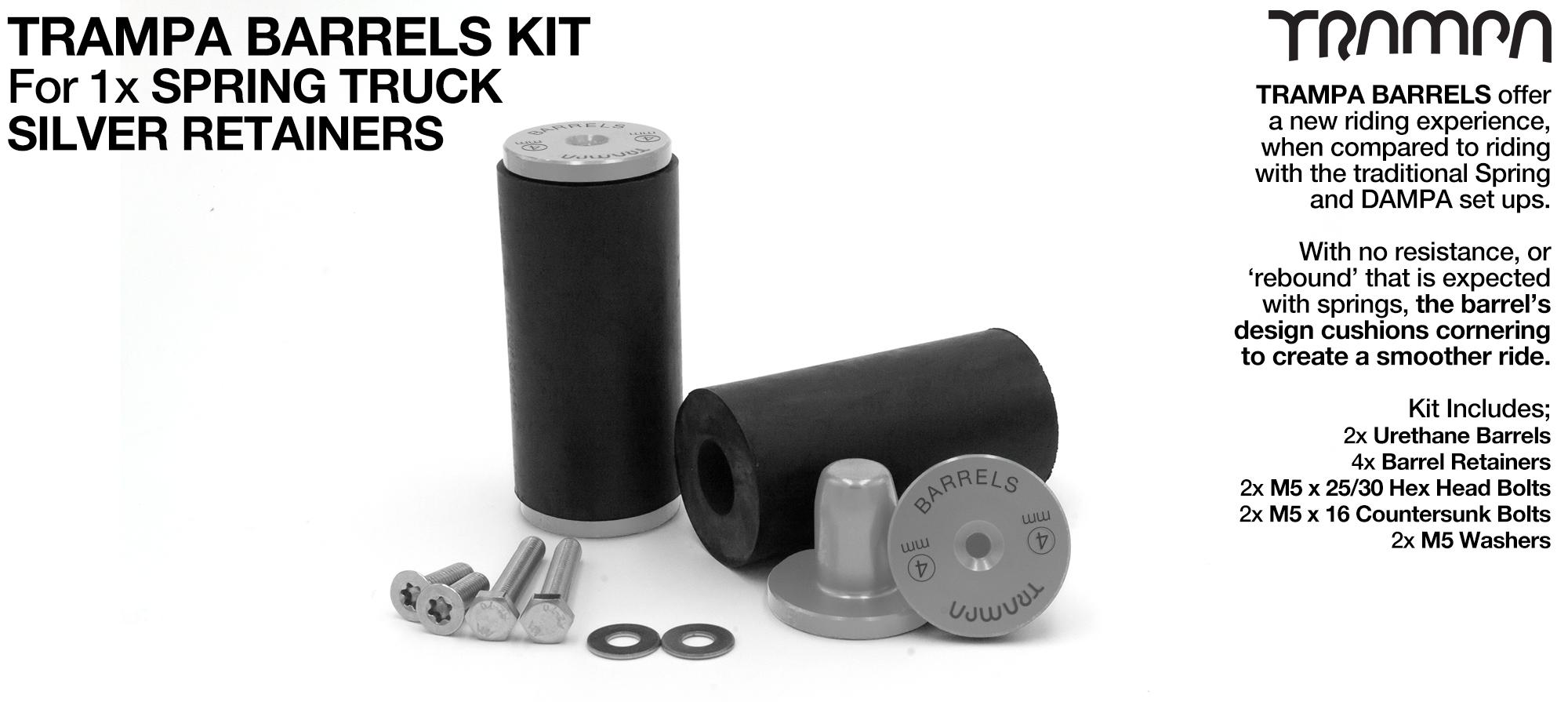 TRAMPA BARRELS Complete 1x TRUCK Kit - SILVER