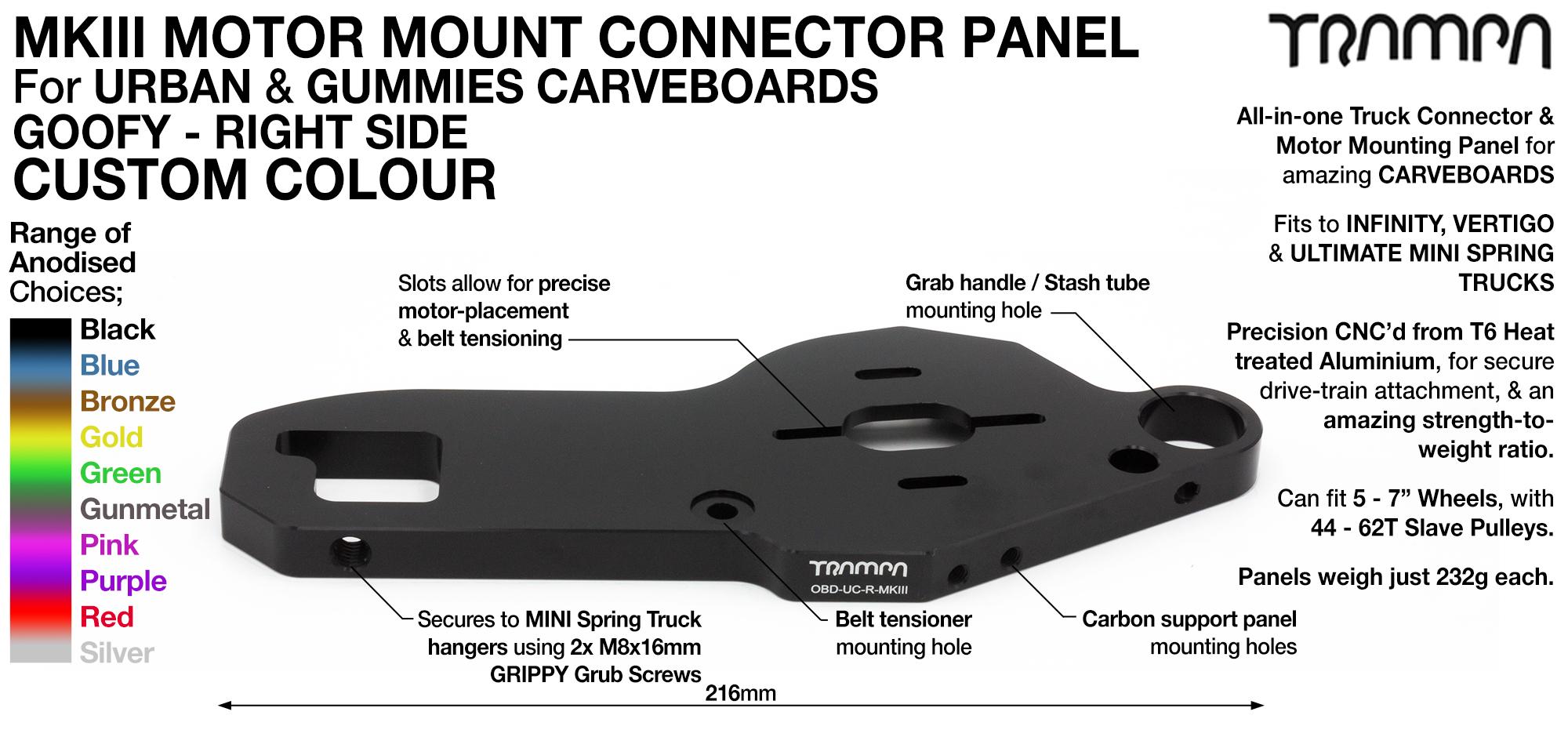 MkIII CARVE Truck Motor Mount T6 Aluminium Anodised - GOOFY