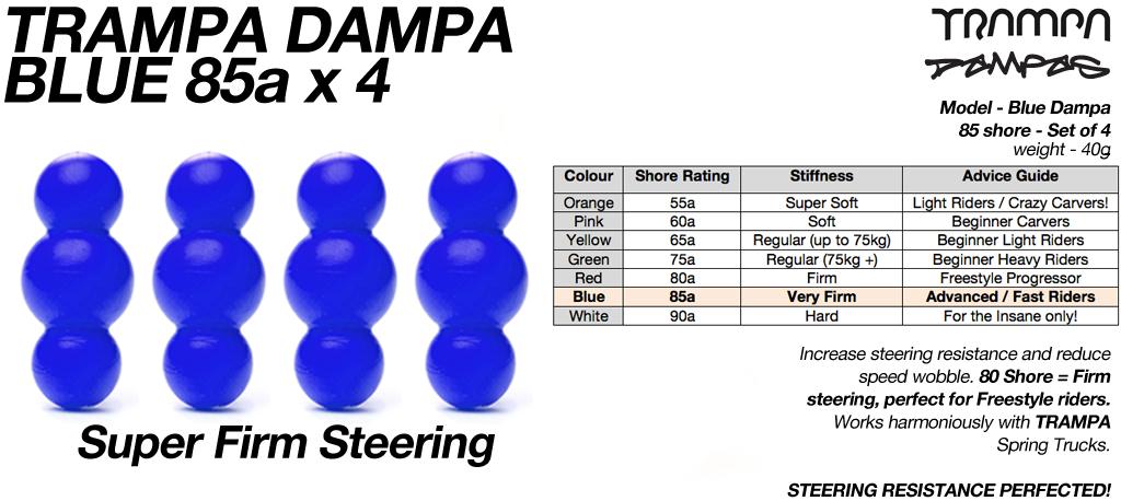 Blue TRAMPA Dampa's 85 Shore - 4 Star Stiffness