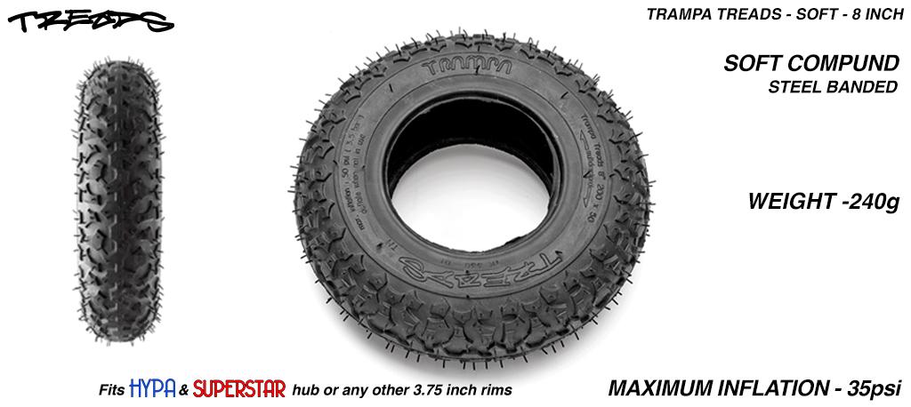 TRAMPA TREADS 8 inch Tyre - Super Grippy Soft Compound