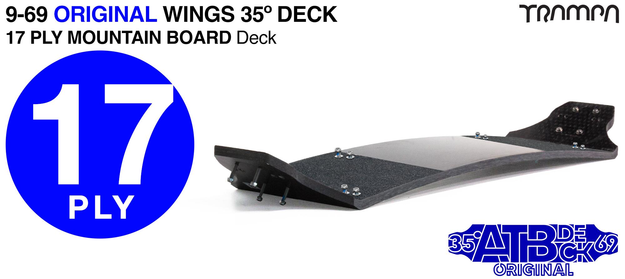 17ply 9-69 35º Gripped Mountainboard Deck - STIFFER