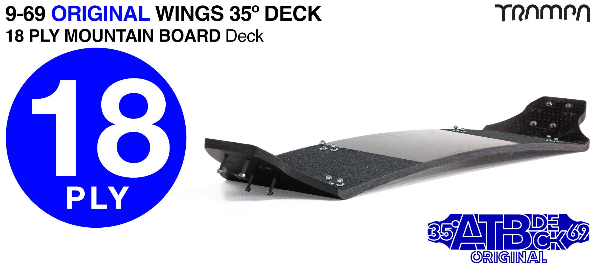 18ply 9-69 35º Gripped Mountainboard Deck - STIFFEST