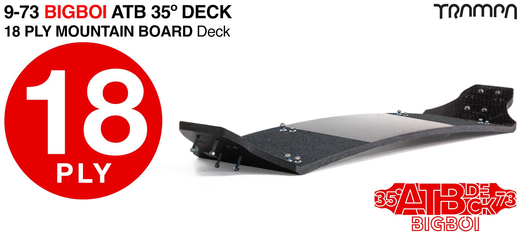 18ply 9-73 35º Gripped Mountainboard Deck - STIFFEST