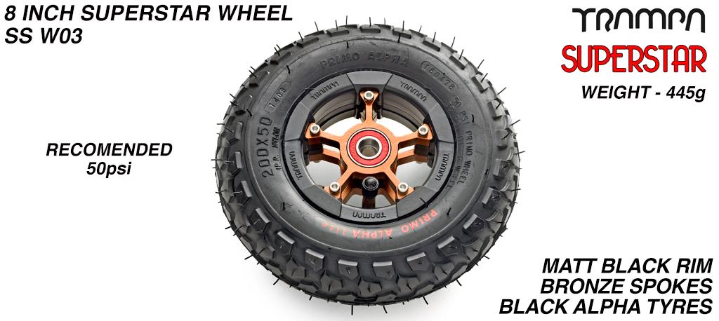 CUSTOM 8 inch SUPERSTAR WHEEL - BUILD YOUR OWN CUSTOM MADE 8 inch wheel