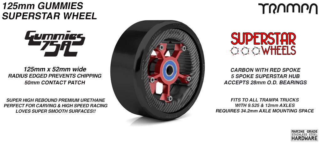 Gummies 125mm SUPERSTAR Longboard Wheel