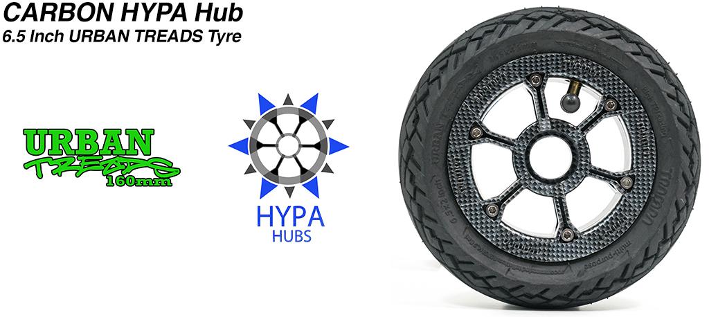 Custom HYPA Hub with Low Profile 6.5 Inch URBAN Treads Tyres
