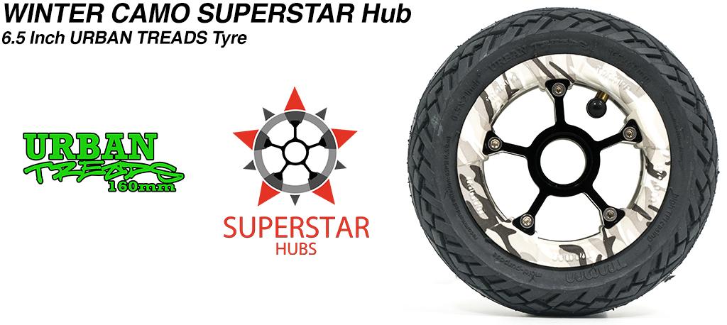 Superstar 6.5 inch wheel - Custom SUPERSTAR Rim with Low Profile 6.5 Inch URBAN Treads Tyres