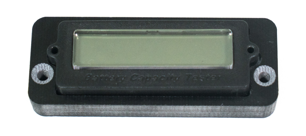 LCD Battery Display with Carbon fibre mounting plate & Screws