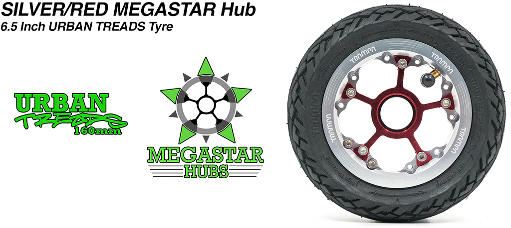 Custom 8 Inch OFF-SET MEGASTAR Hub with Low Profile 6.5 Inch URBAN Treads Tyres