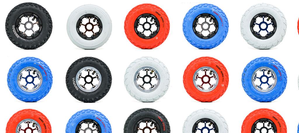 Custom MEGASTAR Wheel using any 8 Inch TRAMPA Tyres