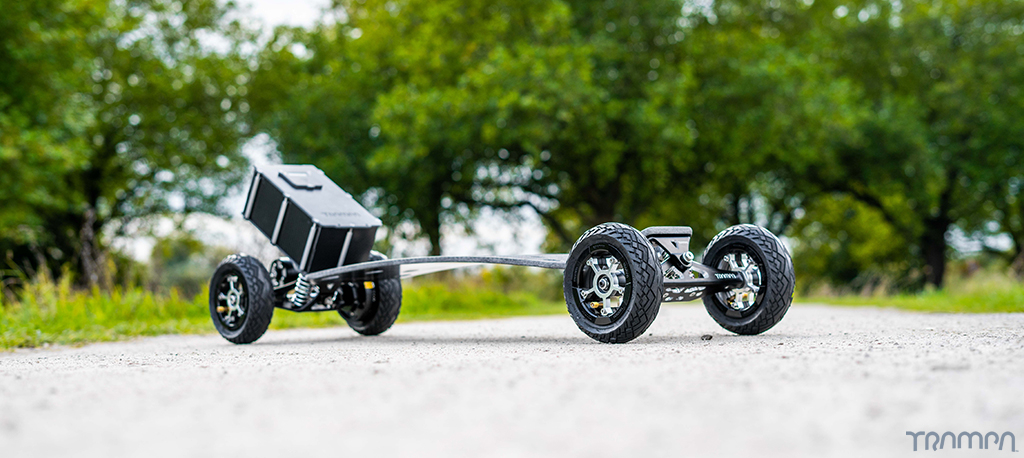 MkII TRAMPA Electric URBAN Carveboard with V6 VESC & 12A BEAST Box Mini Spring Trucks with 6 or 7 inch Wheels - SINGLE Motor CUSTOM