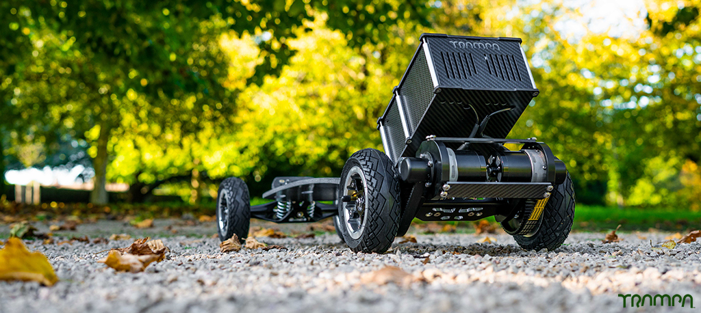 PRO MKII URBAN ELECTRIC Carveboard 2 in 1 TWIN MOTOR with massive 16A BEAST Box Mini Spring Trucks, OFFSET MEGASTAR Wheels with URBAN TREADS & GUMMIES TYRES, 62 Tooth & 44 Tooth Pulley & THE WAND! - The Works!!