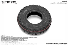 Black Primo Striker tyre  -  9 Inch