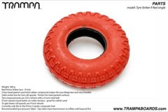 Red Primo Striker tyre  -  9 Inch