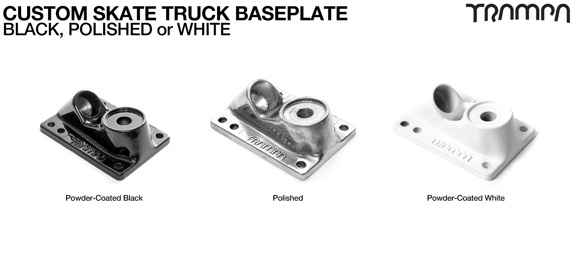 Polished Base plate for Trampa skate trucks
