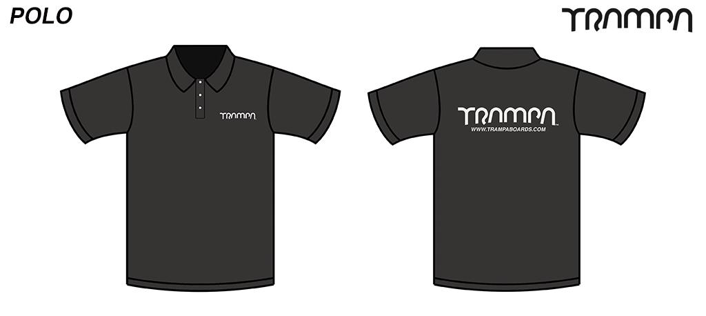 STARWORLD Heavy Duty Polo Shirt - BLACK with SILVER logo