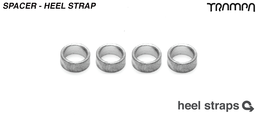 Spacer for Heel strap allows straps to float freely