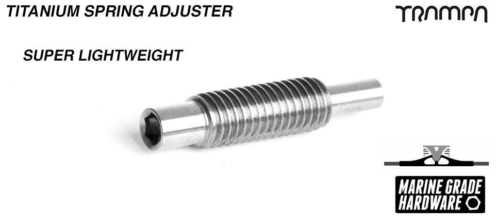 Spring Adjuster - TITANIUM! Save every Gram you can!
