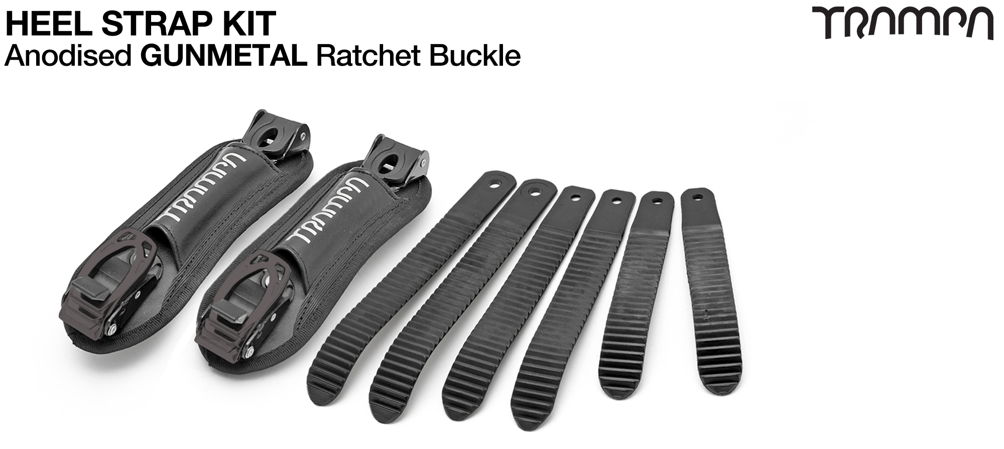 Heel Straps with GUNMETAL Ratchets