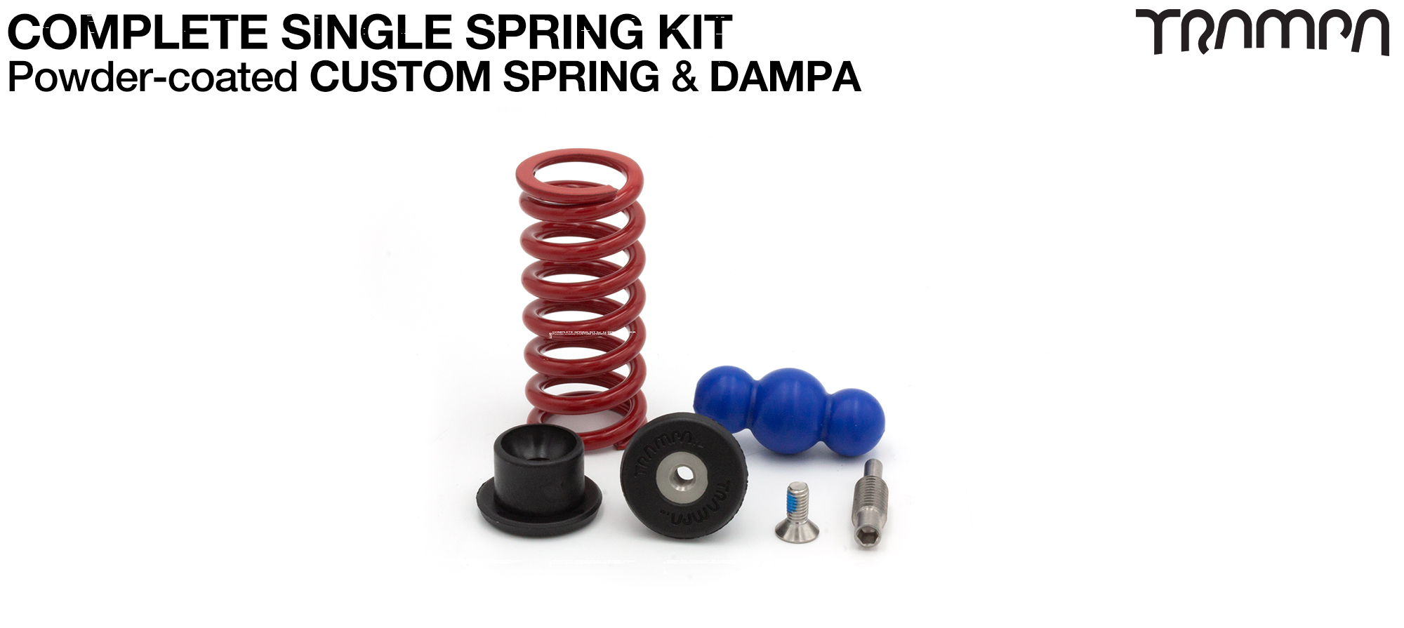 Complete Spring kit for 1x Spring = 1x Spring 1x Dampa 2x Spring Retainers 1x Spring Adjuster & 1 M5x12mm Countersunk Bolt