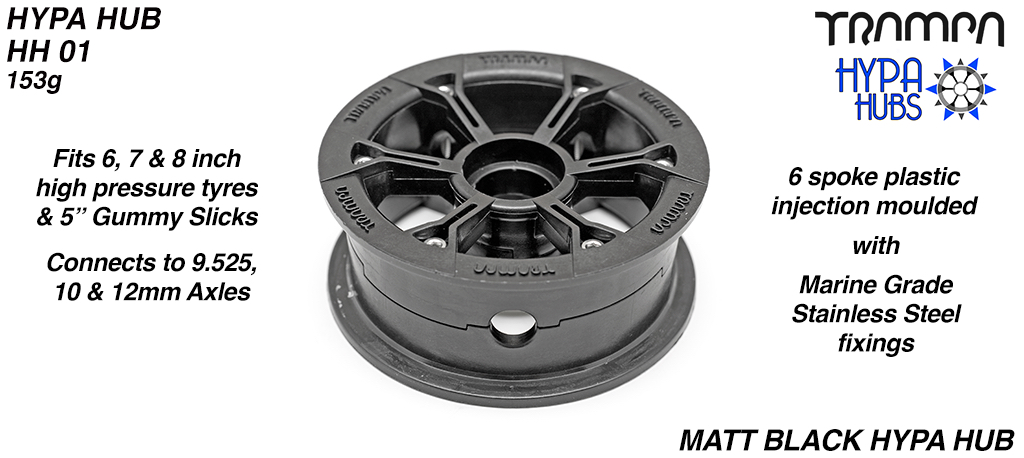Matt BLACK HYPA Hub on the FRONT