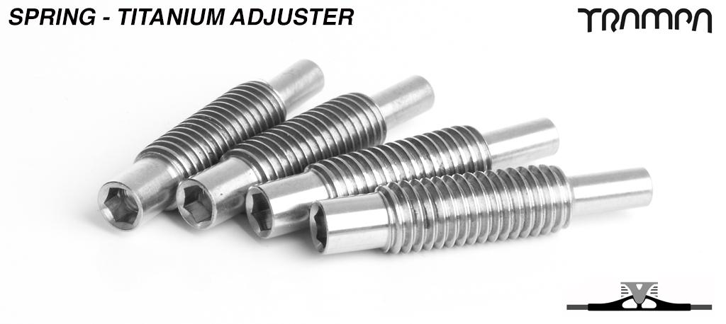 Spring Adjuster - TITANIUM x4