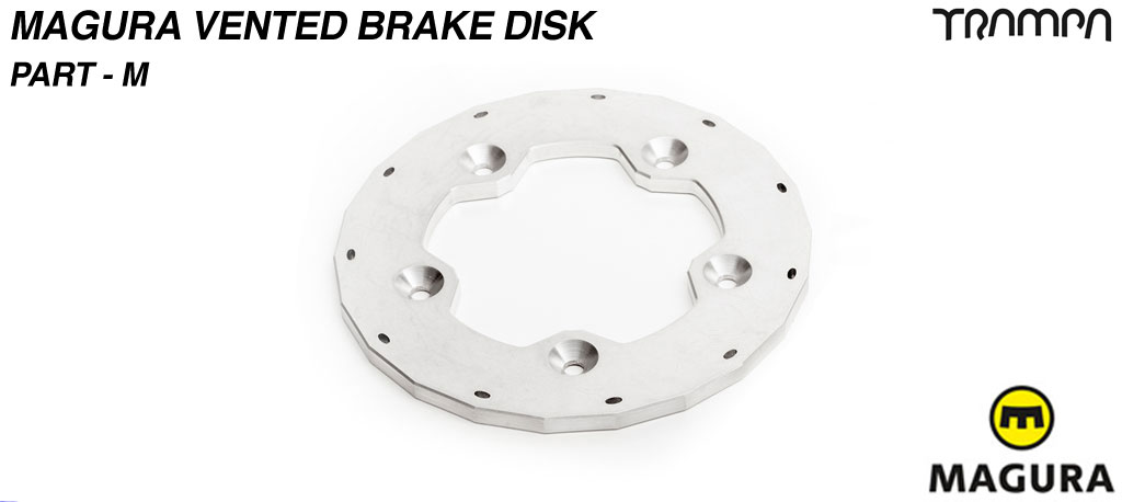 Vented Brake disk to fit Trampa Superstar Wheels - Part M
